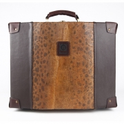 Fish leather suitcase