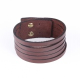 Cuff with straps - Brown