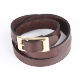Triple Wrap Buckle - Brown