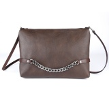 Chain clutch - choco brown