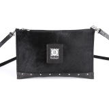 BUDUART Clutch - Black furs