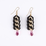 Earrings with chain braiding