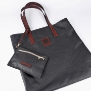 Black shopper bag with purse