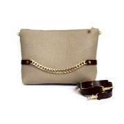 Chain clutch - beige